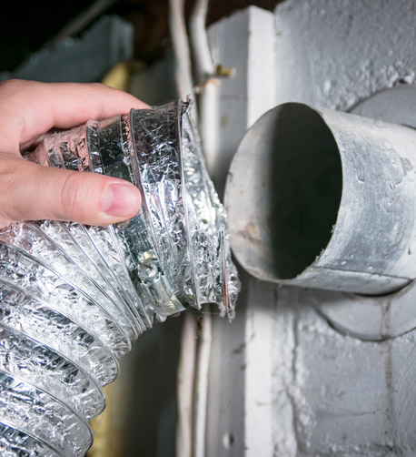 Disconnecting a Dryer Vent Hose